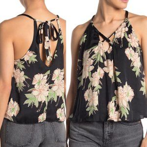FREE PEOPLE Intimately Line Up Floral Cami Black